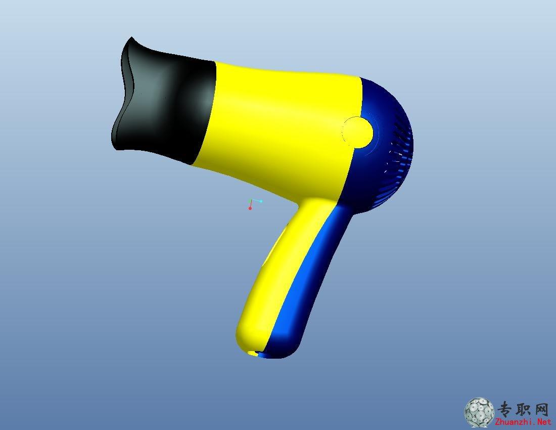 --> Pro/E画吹风机 高级造型设计剖析 1.1 确定吹风机产品设计思路 1.2 创建吹风机外形 1.2.1 创建风简筒身 1.2.2 创建吹风机手柄 1.3 创建吹风机上盖 1.3.1 创建吹风机筒身 1.3.2 创建吹风机手柄 1.4 创建吹风机底盖 1.4.1 创建吹风机盖子 1.4.2 创建吹风机盖子细节 1.5 创建吹风机头 1.