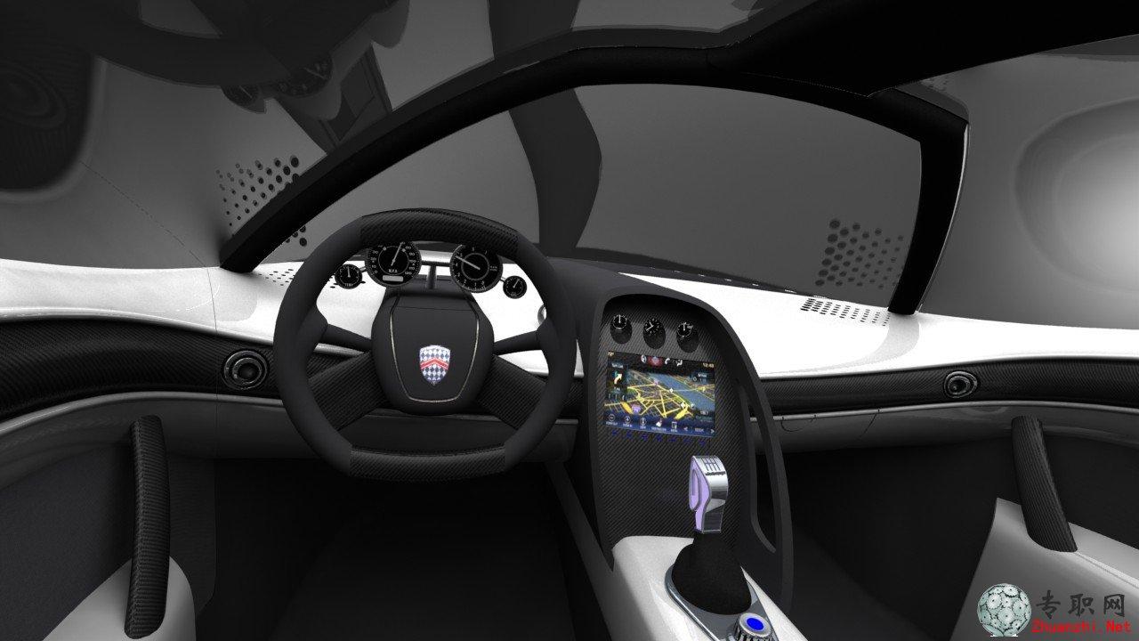 西尔贝跑车.3DS MAX设计 模型STEP格式装配图下载高清图片