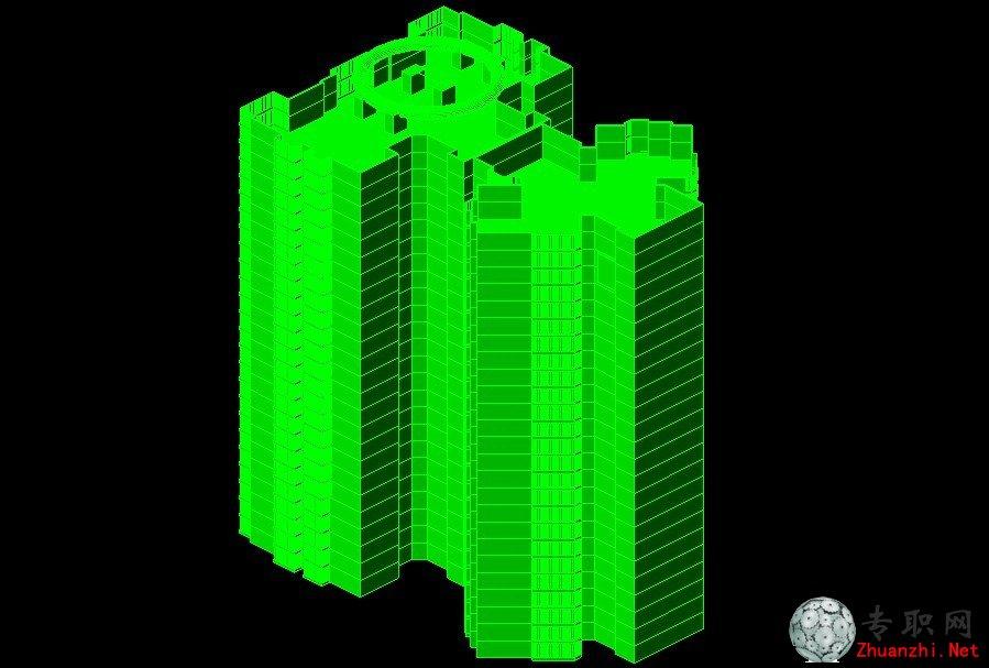 建筑三维透视图_cad三维制图视频教程下载