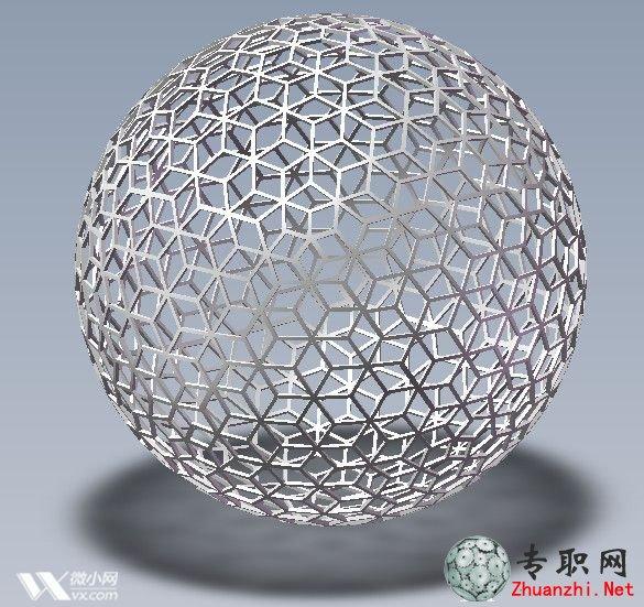 空心结构球体3d模型下载_solidworks设计_sldprt文件下载