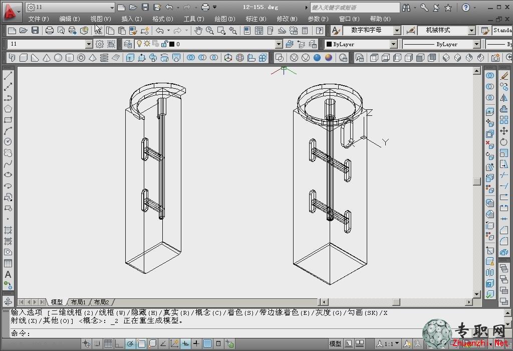 短軸零件造型的設計 _cad機械制圖視頻教程下載