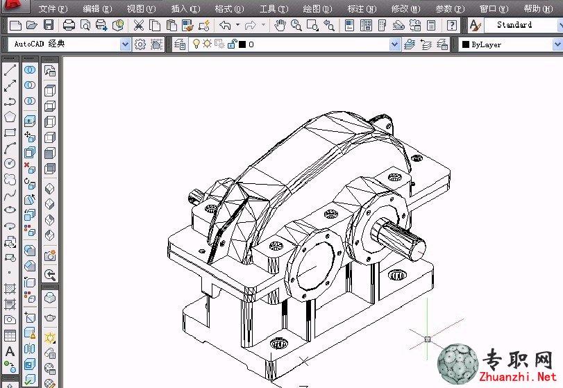 减速器装配图(总装立体图,齿轮组件装配) _cad三维制图视频教程下载