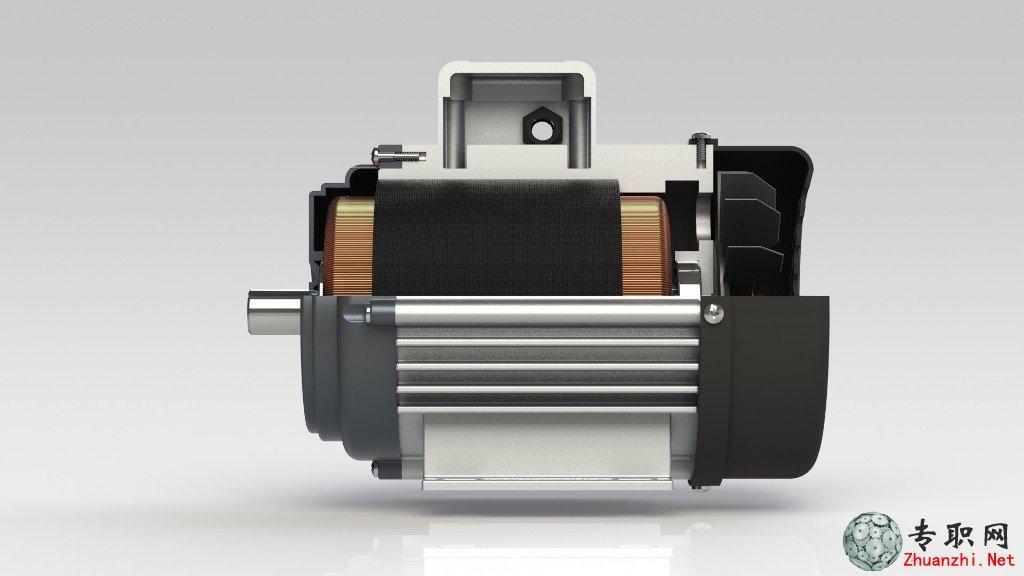 3hp电动机3d模型(含电动机内部结构设计)