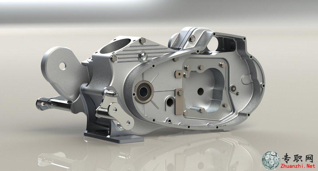 发动机外壳(摩托车)3d模型完整装配图下载