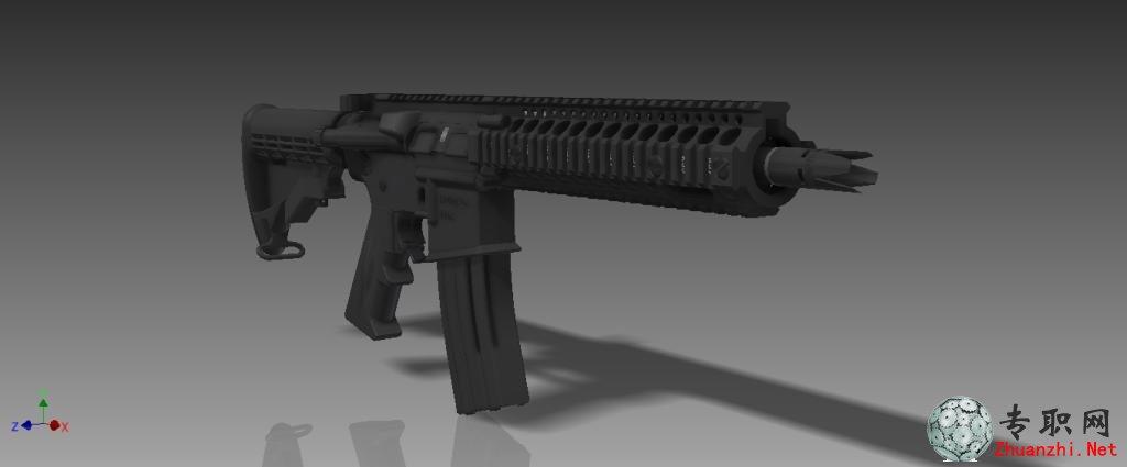 专职网 行业资料 图纸下载 > ar-15步枪3d模型_inventor 2013设计_stp