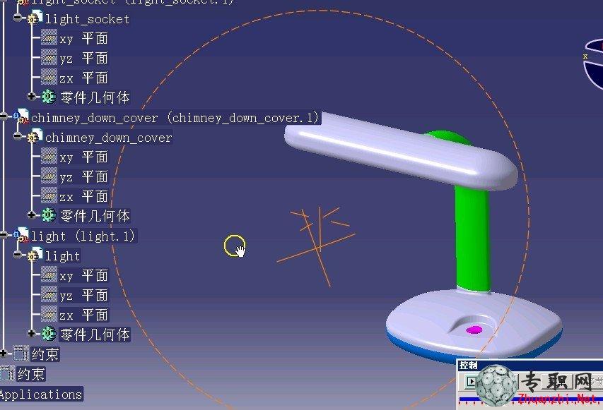 台灯的设计及catpart文件_catia v5 产品设计教程下载图片