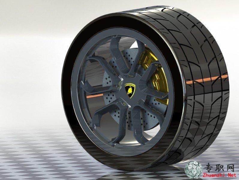 兰博基尼跑车轮毂3d模型_solidworks设计_sldprt/sldasm源文件下载