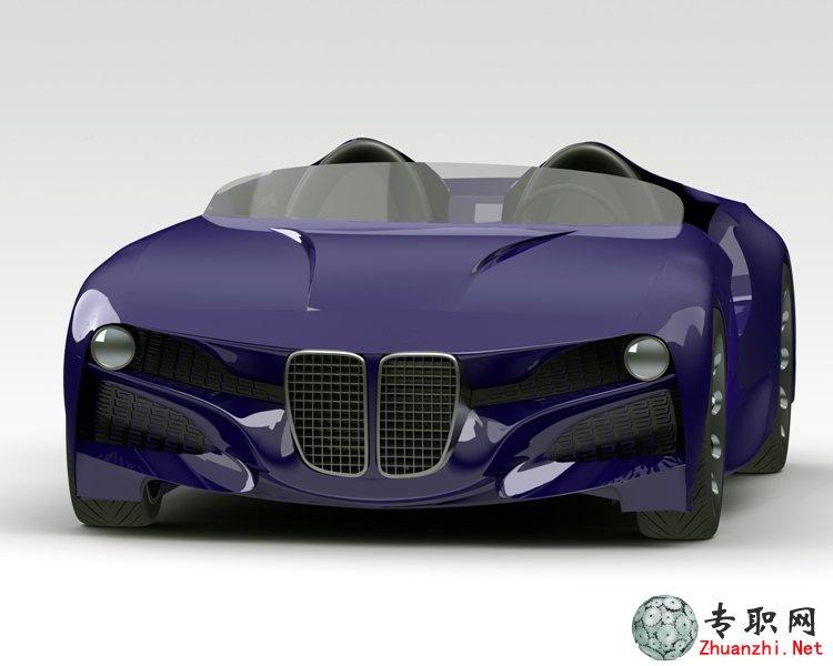 宝马概念跑车3d模型_solidworks设计