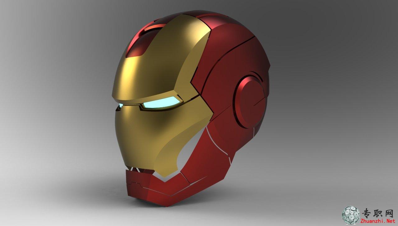 图纸下载 钢铁侠头盔3d模型 高清图片