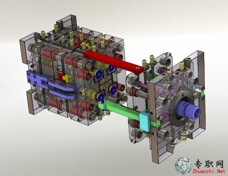 > 注射模3d模型_solidworks设计_step文件下载