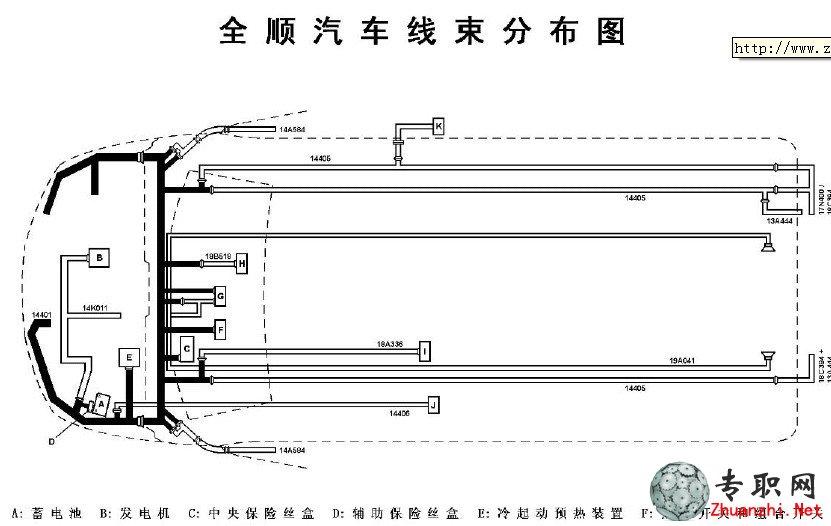 江铃全顺汽车线束电路分布图_汽车技术资料_pdf文档下载