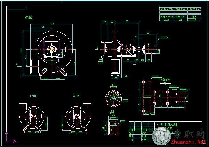 2d离心风机安装总图 _ cad图纸下载