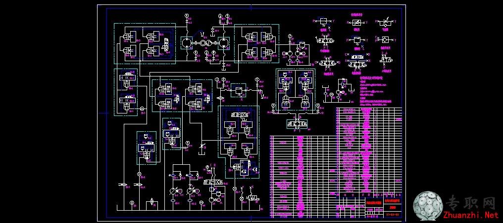 试验台液压原理图 _ cad图纸下载