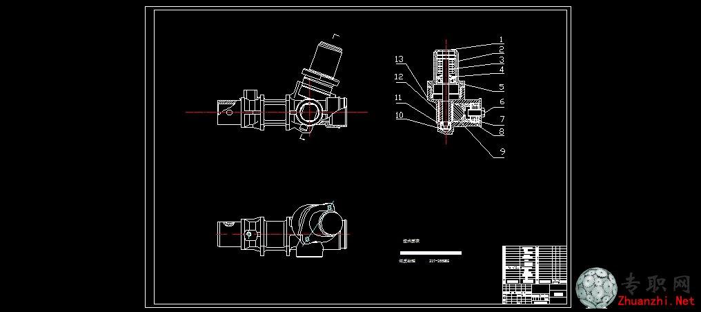 齿轮齿条式转向器 _ cad图纸下载