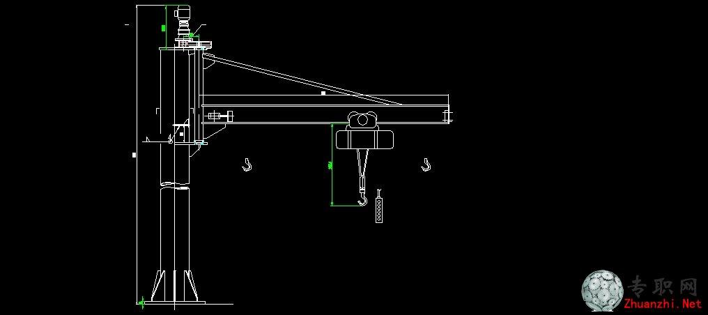 悬臂吊机 总图 _ cad图纸下载