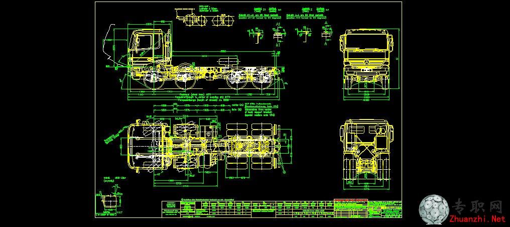 奔驰卡车dwg图纸_cad图纸/二维图纸下载