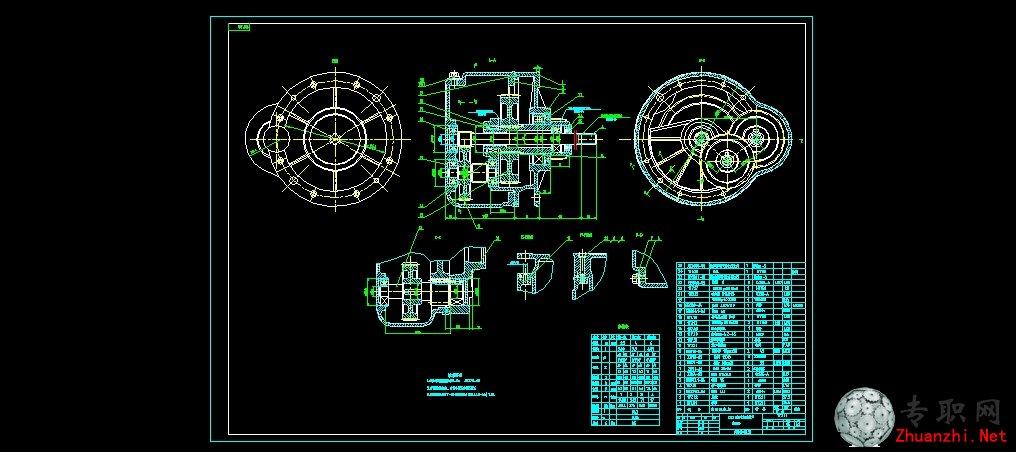 cdⅠ型5吨电动葫芦减速器_cad图纸/二维图纸下载