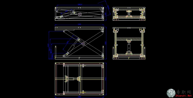 剪叉式液压升降台的设计图片