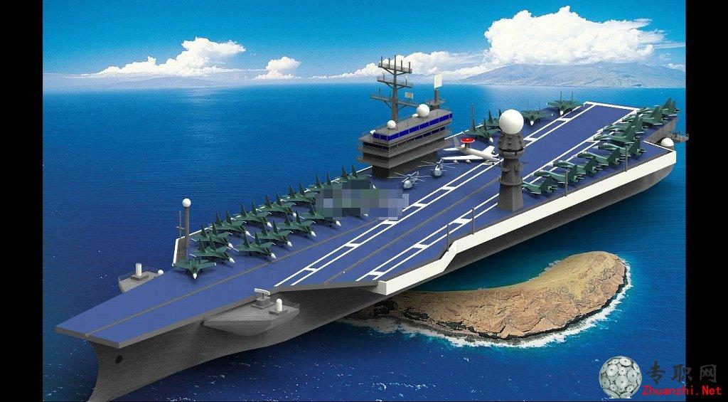航空母舰3d模型_proe设计_prt/asm源文件下载