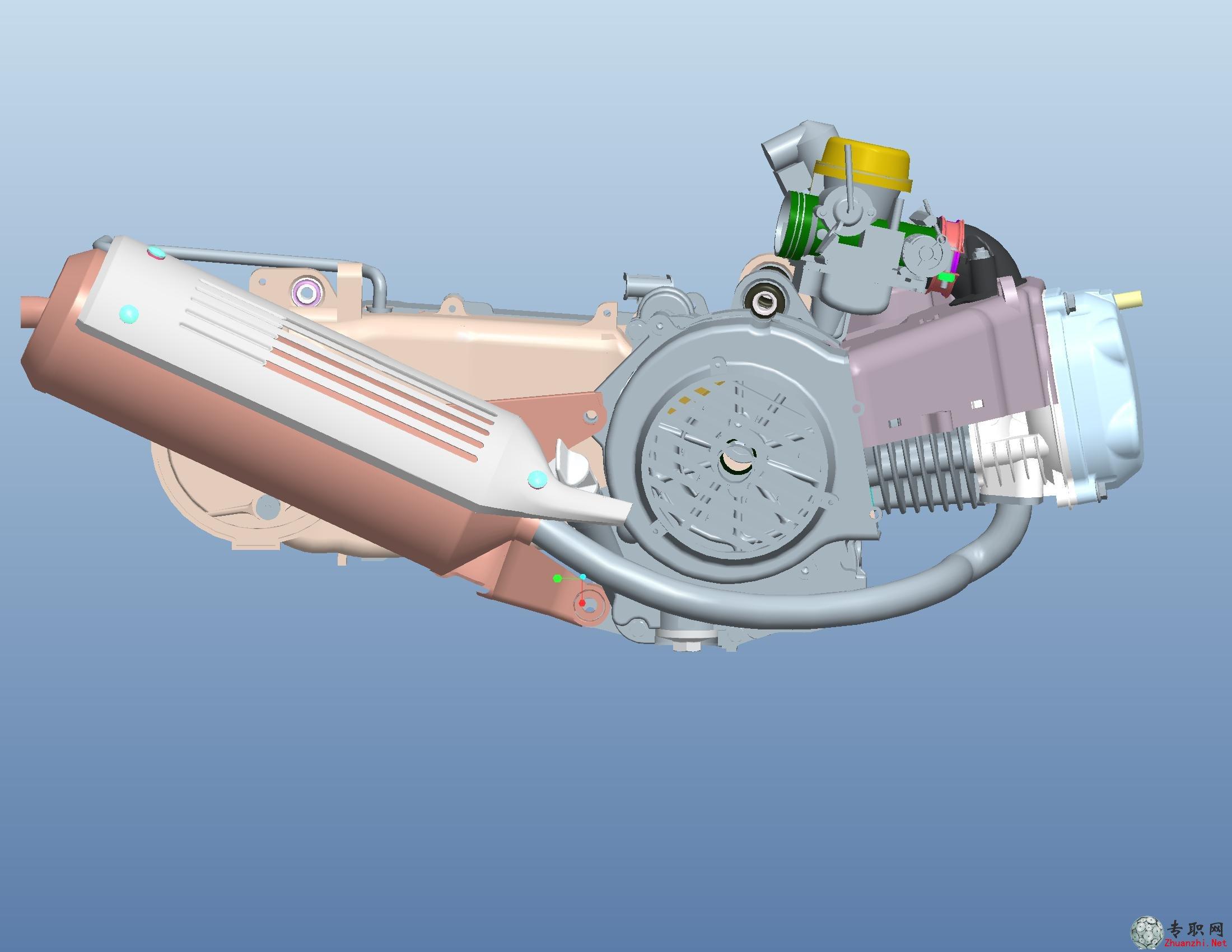 专职网 行业资料 图纸下载 > proe五羊公主摩托车发动机3d模型_pro/e