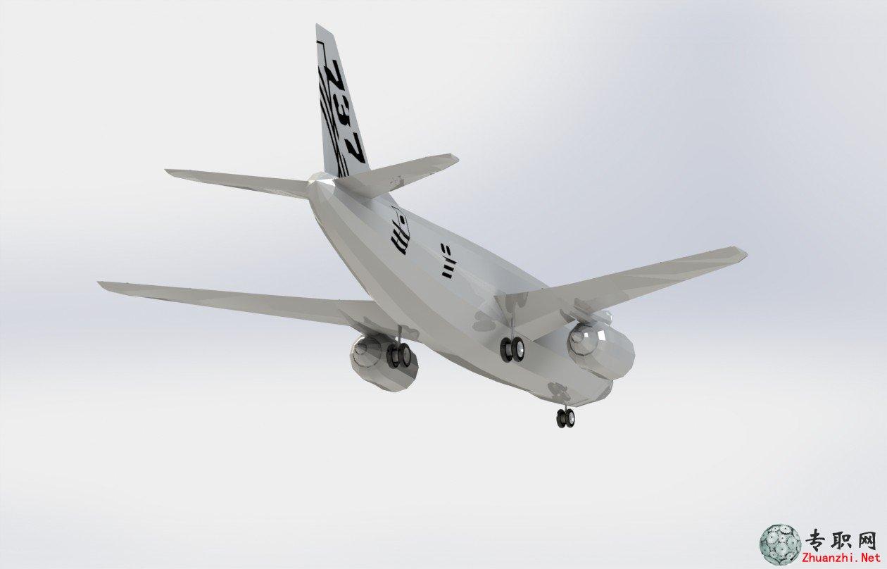波音737-300飞机3d模型