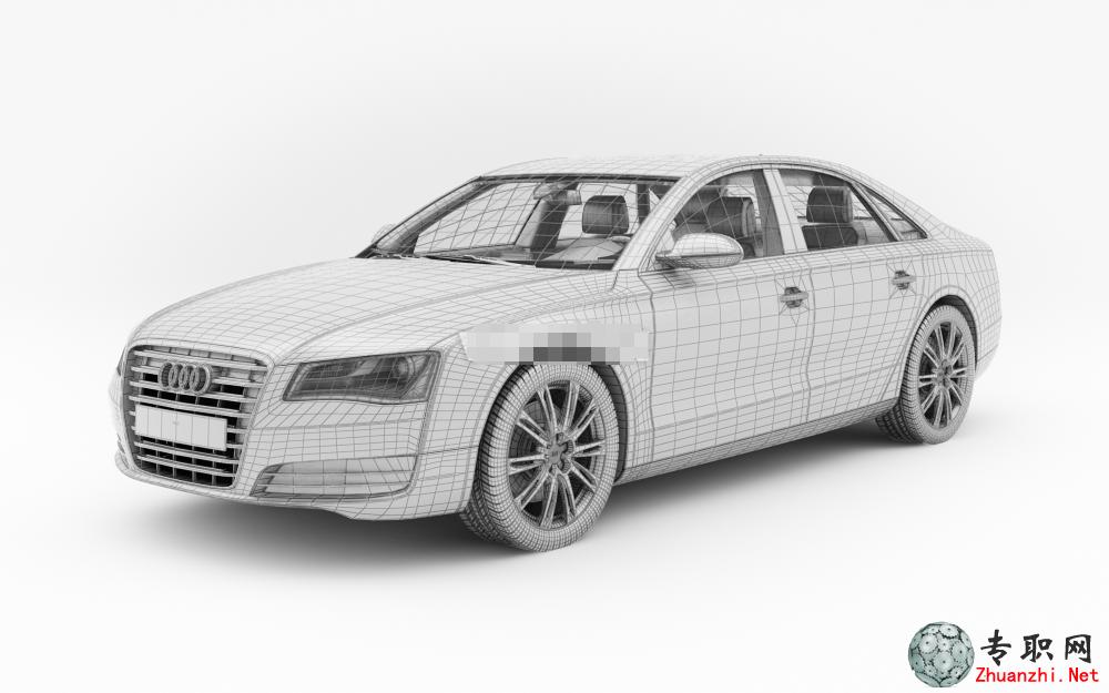 奥迪a8汽车3d模型_3ds max设计_fbx/max源文件下载