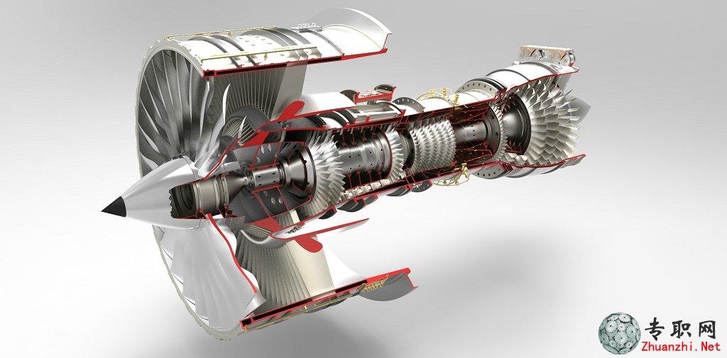 航空发动机3d模型_solidworks设计