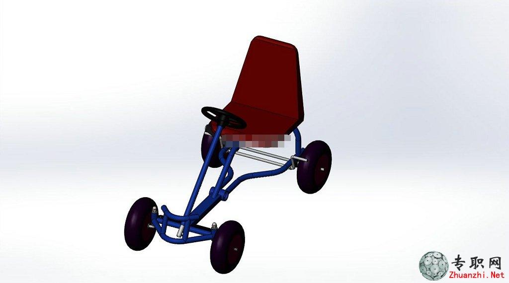 儿童玩具脚踏卡丁车3d模型