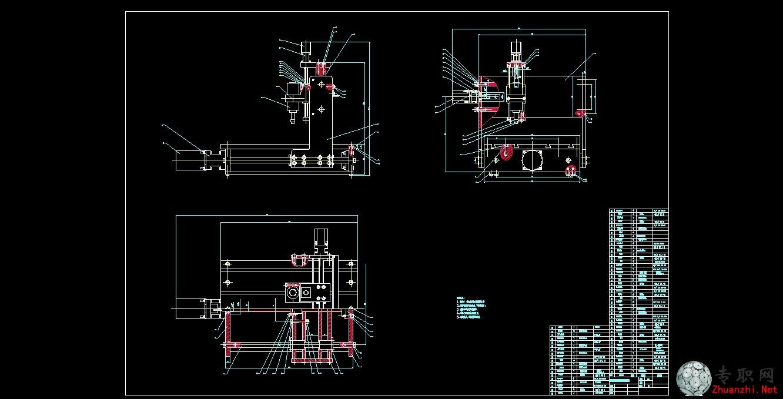 简易三维雕刻机装配图_cad图纸/dwg格式二维图纸下载图片