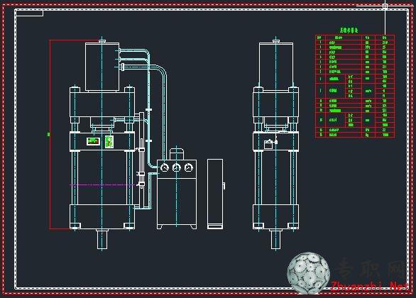 200吨四柱液压机 yx32-200