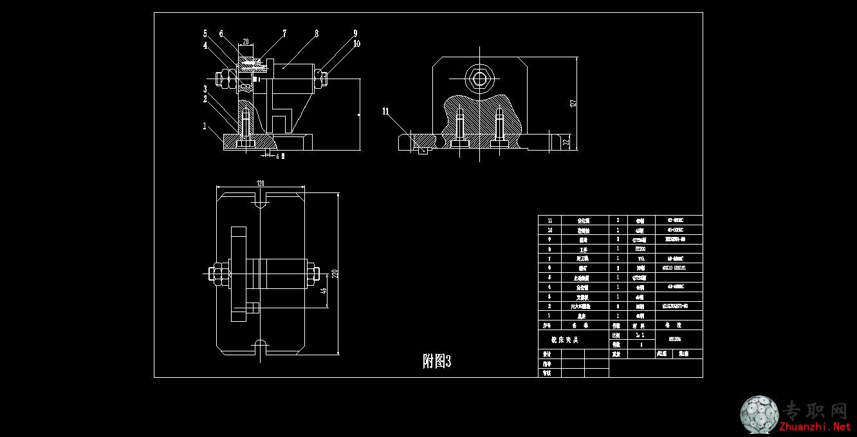 831005铣床夹具装配图 _cad图纸/dwg格式二维图纸下载图片