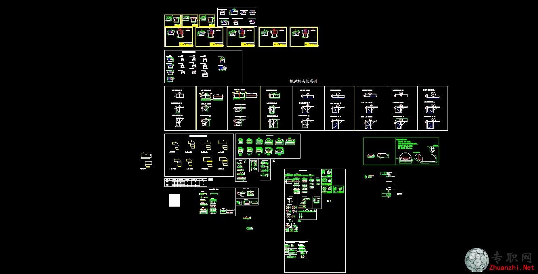 cad图纸下载   输送机图纸   建筑机械cad图纸   下载说明