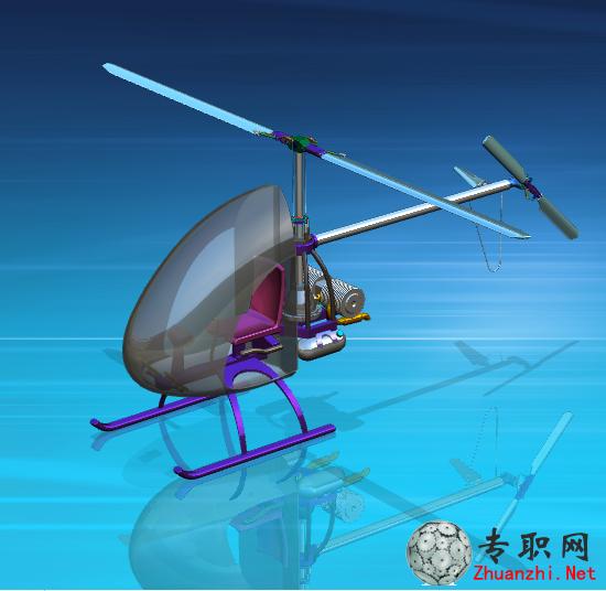 单发直升机3d模型(图纸完整)_ug nx设计_prt格式源文件下载
