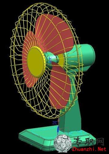 专职网 行业资料 图纸下载 > 台式电风扇3d模型_ug nx设计_prt格式源