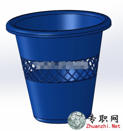 垃圾桶/纸篓3d模型_solidworks设计