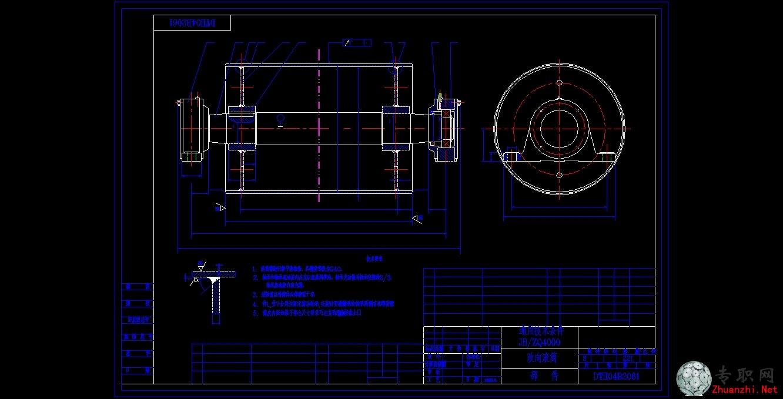 DTII型传改向图纸装配图_CAD格式/dwg滚筒二剑图纸ug图片