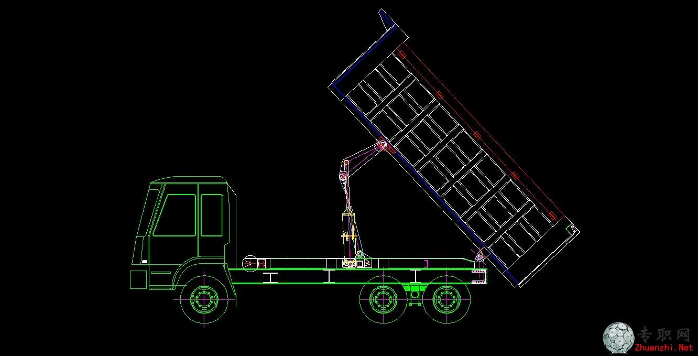 自卸汽车组装图 _cad图纸/二维图纸下载