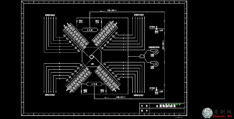 燃烧器系统图 _cad图纸/二维图纸下载