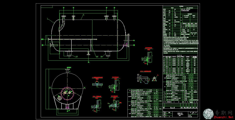 7立方米卧式储油罐 _cad图纸/二维图纸下载图片