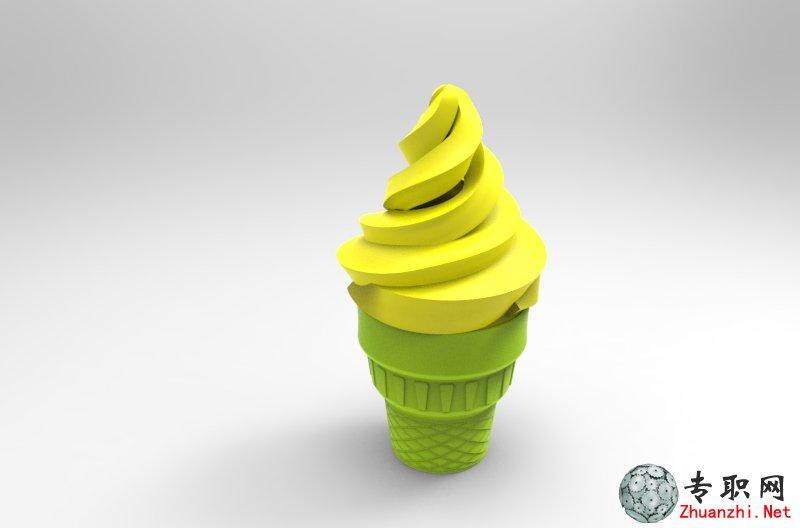 雪糕/冰淇淋3d模型(可3d打印)_proe设计_prt/asm/stl格式文件下载