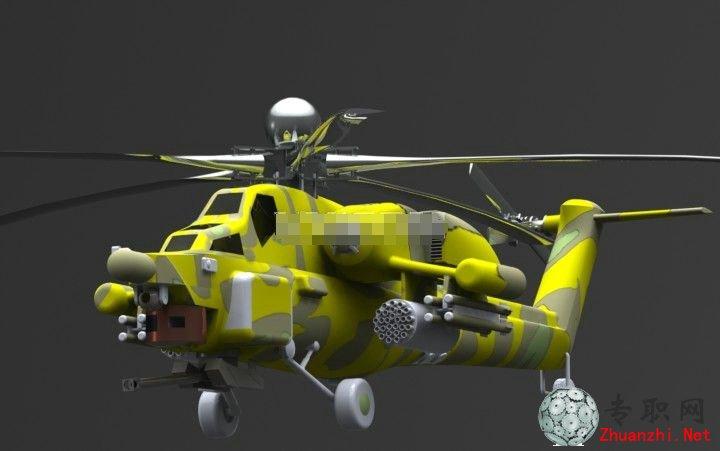 专职网 行业资料 图纸下载 > mi-28直升机3d模型_solidworks设计_stl