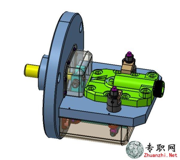 数控车床液压夹具3D模型 STP step格式文件下载