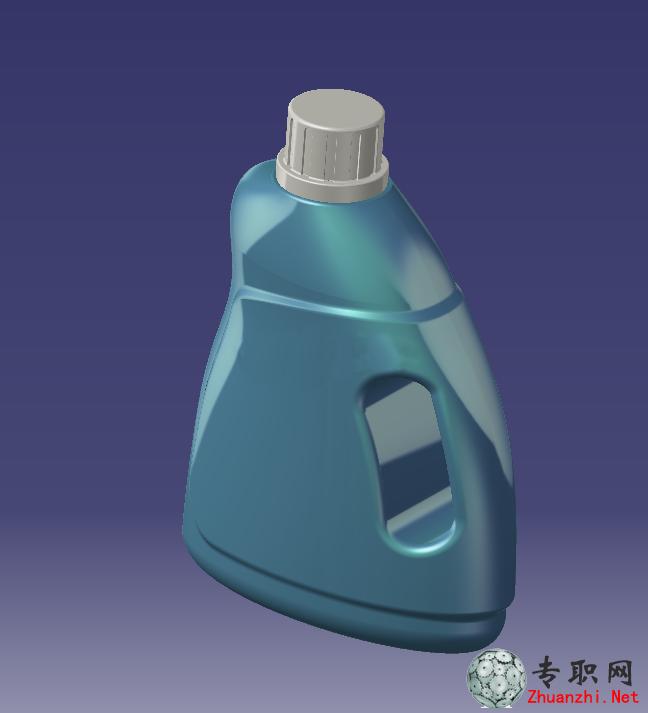 洗衣液瓶子3d模型_catia设计