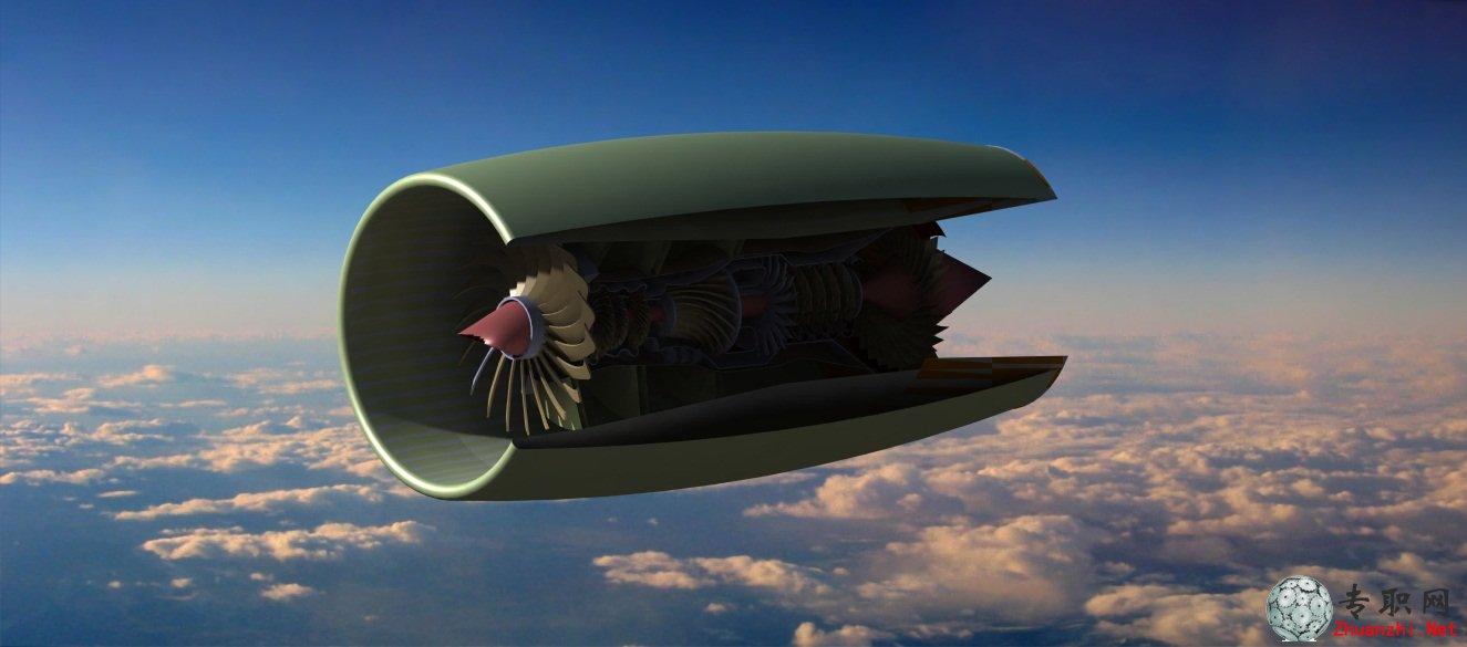 飞机发动机3d模型_catia设计