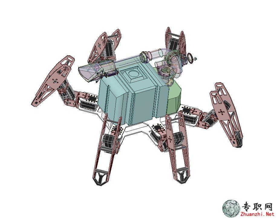 蜘蛛機器人消防員3d模型_proe設計_step/stp格式文件下載