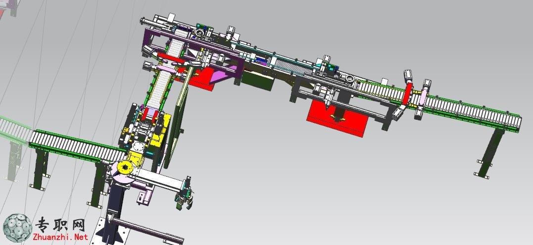 大型流水输送线3d模型_ug nx设计_prt文件下载