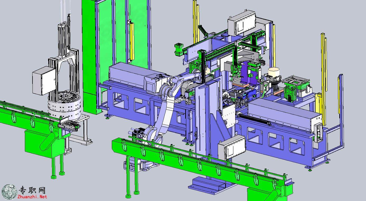 非标自动化电机转换器组装机3d模型_solidworks设计_step文件下载