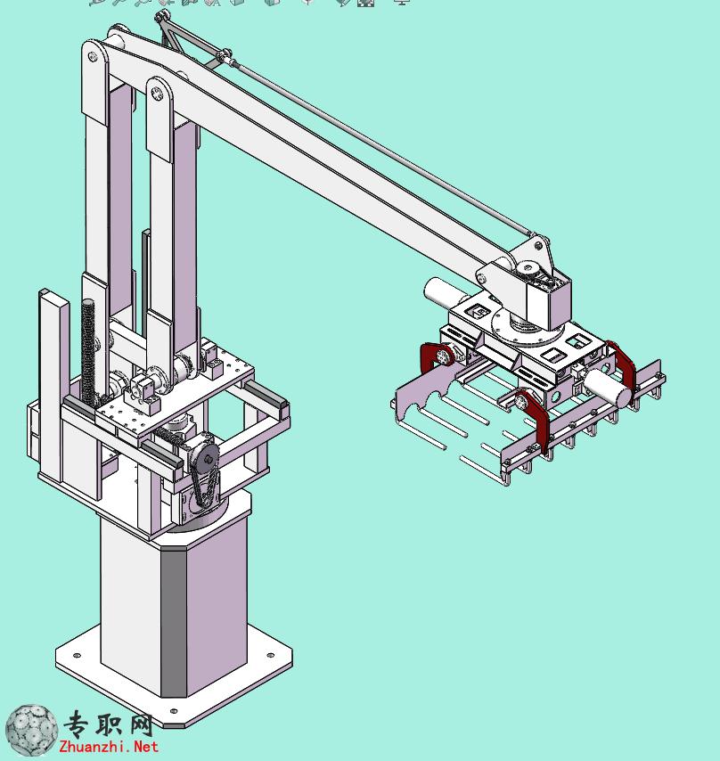 码垛机器人/码垛机械手3d模型_solidworks设计_sldprt