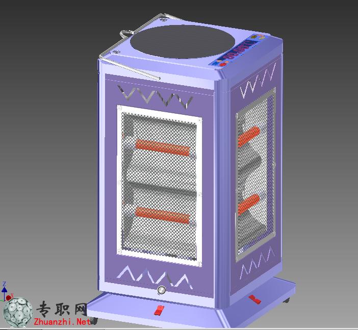 --> 多功能取暖器(全套图纸+说明书)3D模型_Inventor设计_ipj/ipt/iam文件下载  一款原创多功能取暖器,可以加湿,出热风,沏茶煮咖啡等,功能比较齐全,Inventor软件设计的模型 有参数 可编辑,结构合理,该文档里除了3D模型 还有取暖器各个零部件工程图、取暖器爆炸图、效果图、视频、动画、后期图片等,还有说明书的,非常全面的说明。  由于这是一款大众消费的家电,就算是投放市场价格也是大众所能接受,也将受到大众的欢迎。在功能和外观上都具有人性化原理,较为符合人们的需求。