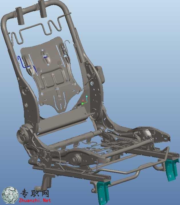 汽车座椅骨架结构设计3d模型
